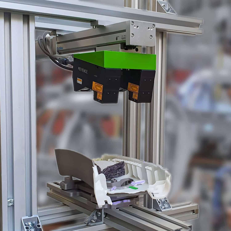 Prüfung von Schaumraupen 3D Triangulation Keyence MABRI.VISION