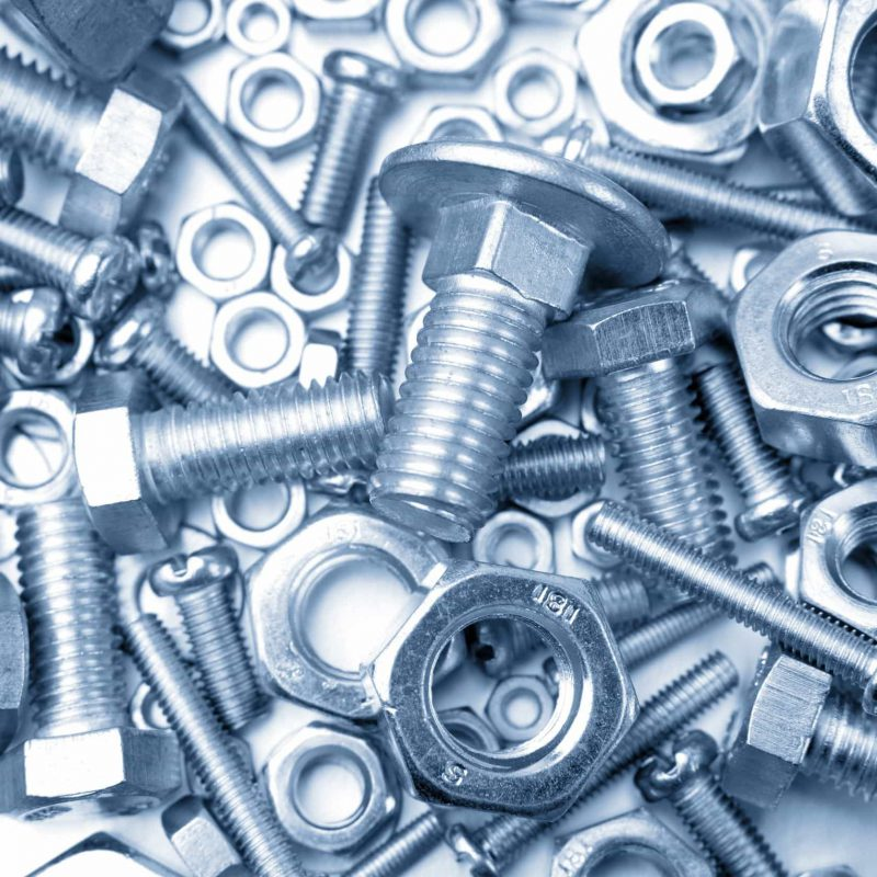 11857205 - assorted nuts and bolts closeup